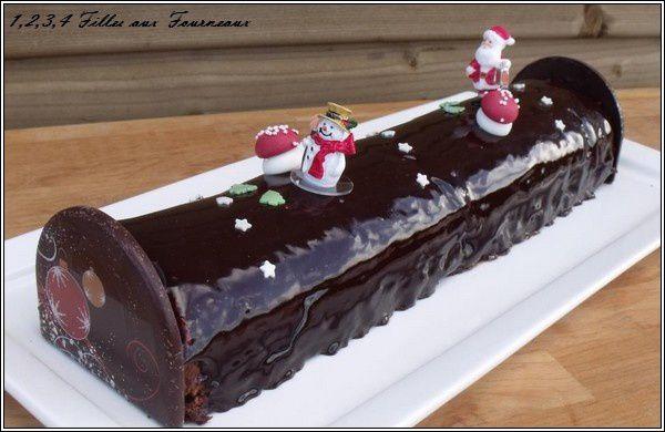 Buche de noel chocolat noir et chocolat blanc