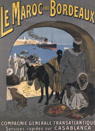 ancienne affiche du Maroc