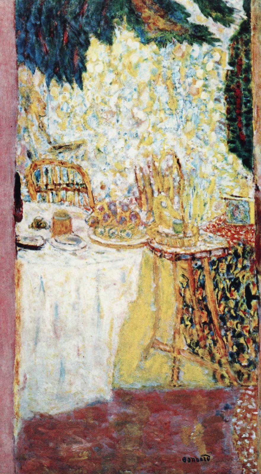 Pierre Bonnard, (1867 1947) est un peintre français. Peintre de personnages, figures, nus, portraits, paysages animés, intérieurs, natures mortes, fleurs et fruits, il était aussi graveur, dessinateur et illustrateur...