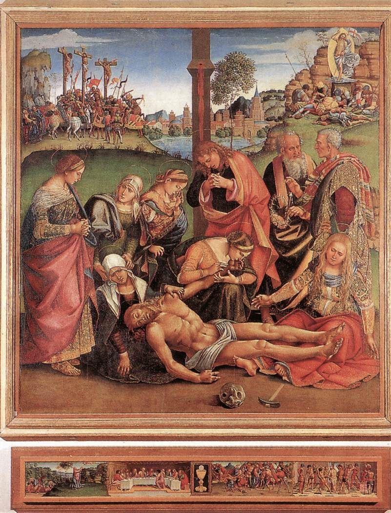Luca Signorelli né Luca d'Egidio di Ventura appelé parfois Luca da Cortona (Cortone, vers 1450 - 1524) est un peintre italien toscan réaliste de l'école florentine.
