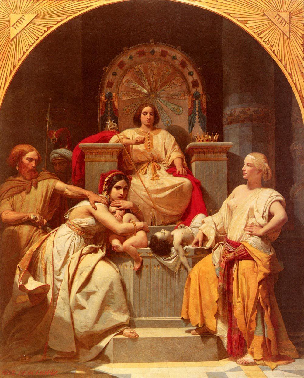 Henri-Frédéric SCHOPIN (1804-1880) : Né en Allemagne, naturalisé français. Il fut l'élève de Gros. Prix de Rome en 1831, il débute au Salon de 1835 et y expose jusqu'en 1879 avec des peintures de genre et des scènes d'histoire.