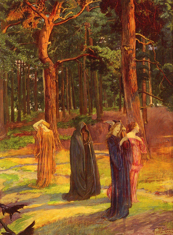 John Byam Liston Shaw (1882-1919), peintre et illustrateur anglais...