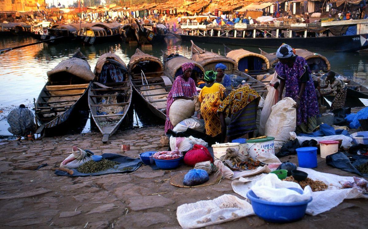 68-Mopti - Mali - Fleuve Niger - Le Port