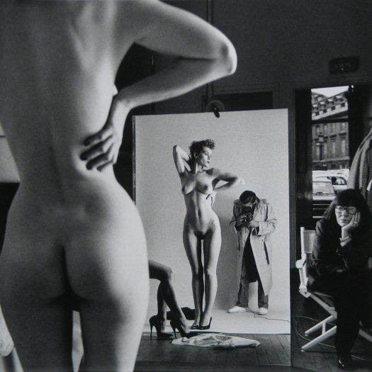 Helmut-Newton-Self-Portrait-with-Wife-&-Models-Photography-