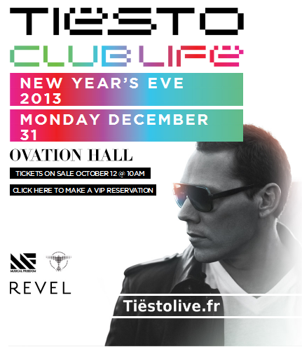 tiesto new year's 2013