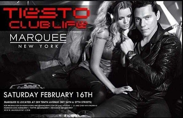 Tiësto Marquee - New York 16 feb 2013