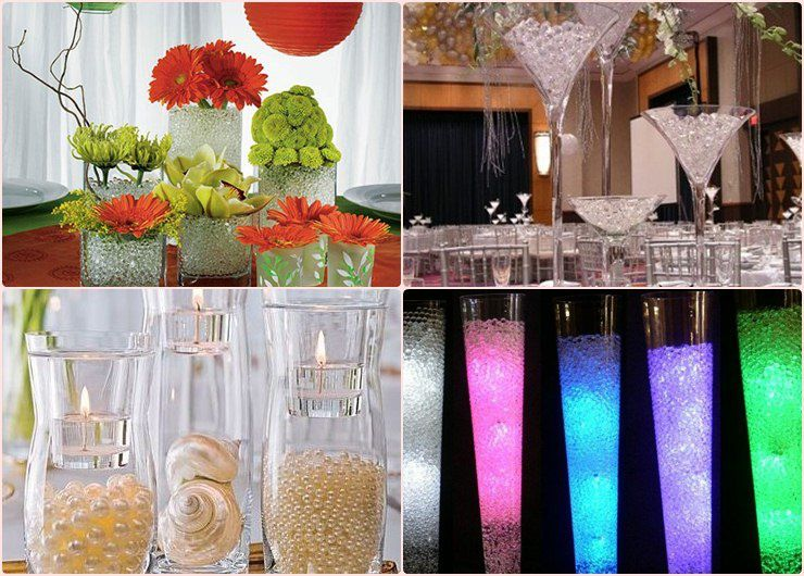 cheap wedding flower ideas cenrte de table perle d eau d 233 coration de mariage 2711