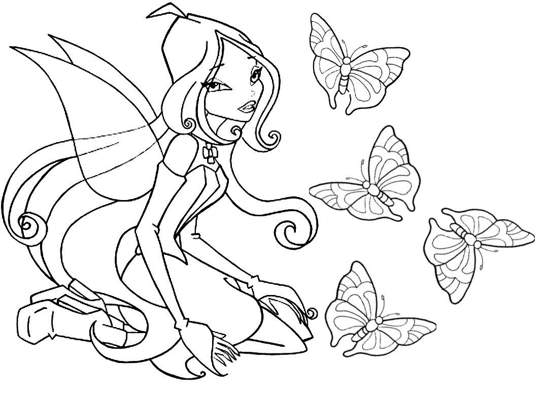 article winx coloriage