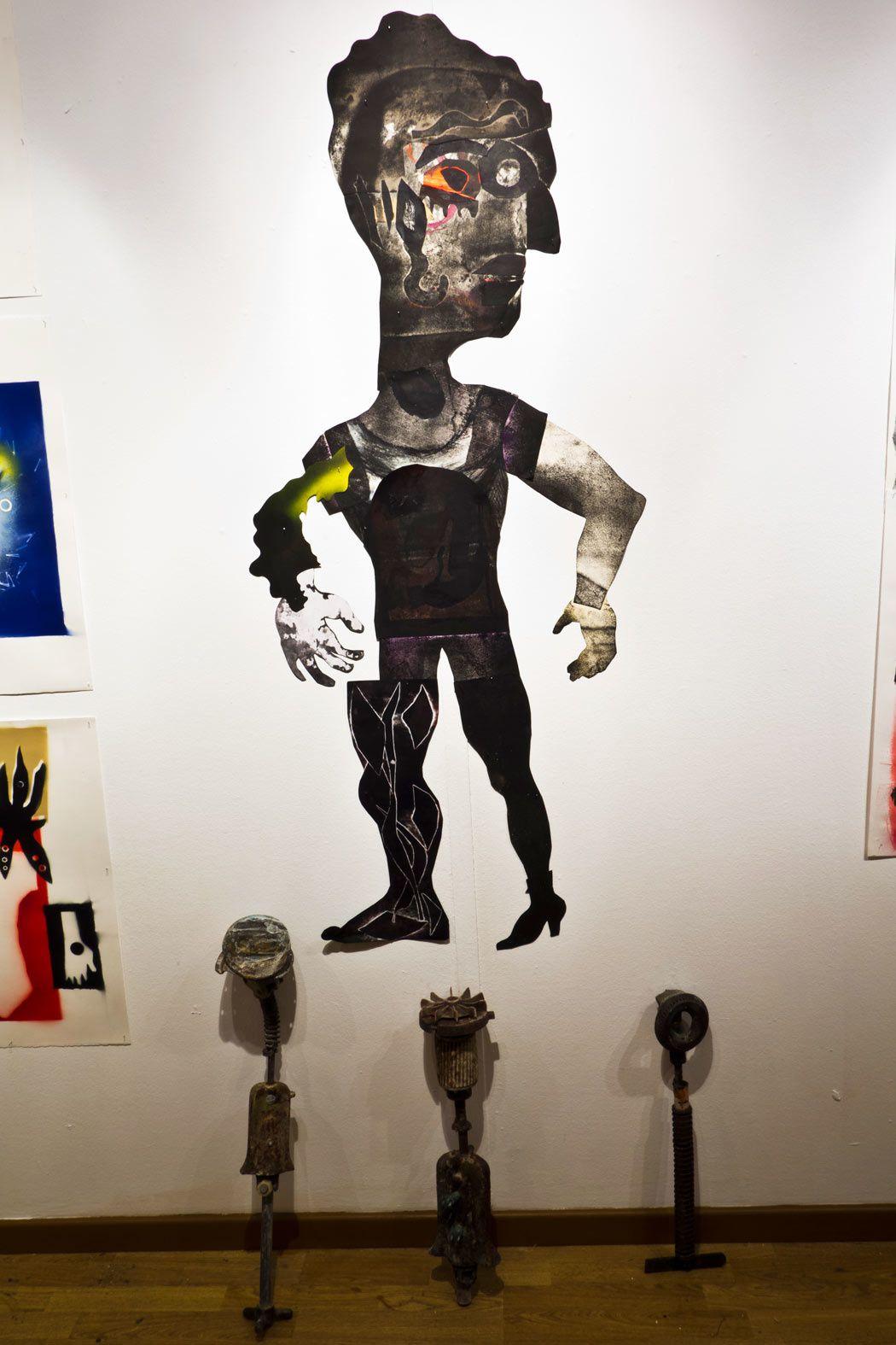 Mise en scène d'images, de films et d'objets à L'Atrium à Fort-de-France, Biennale Internationale d'Art Contemporain de la Martinique. nov. 2013 - janv 2014