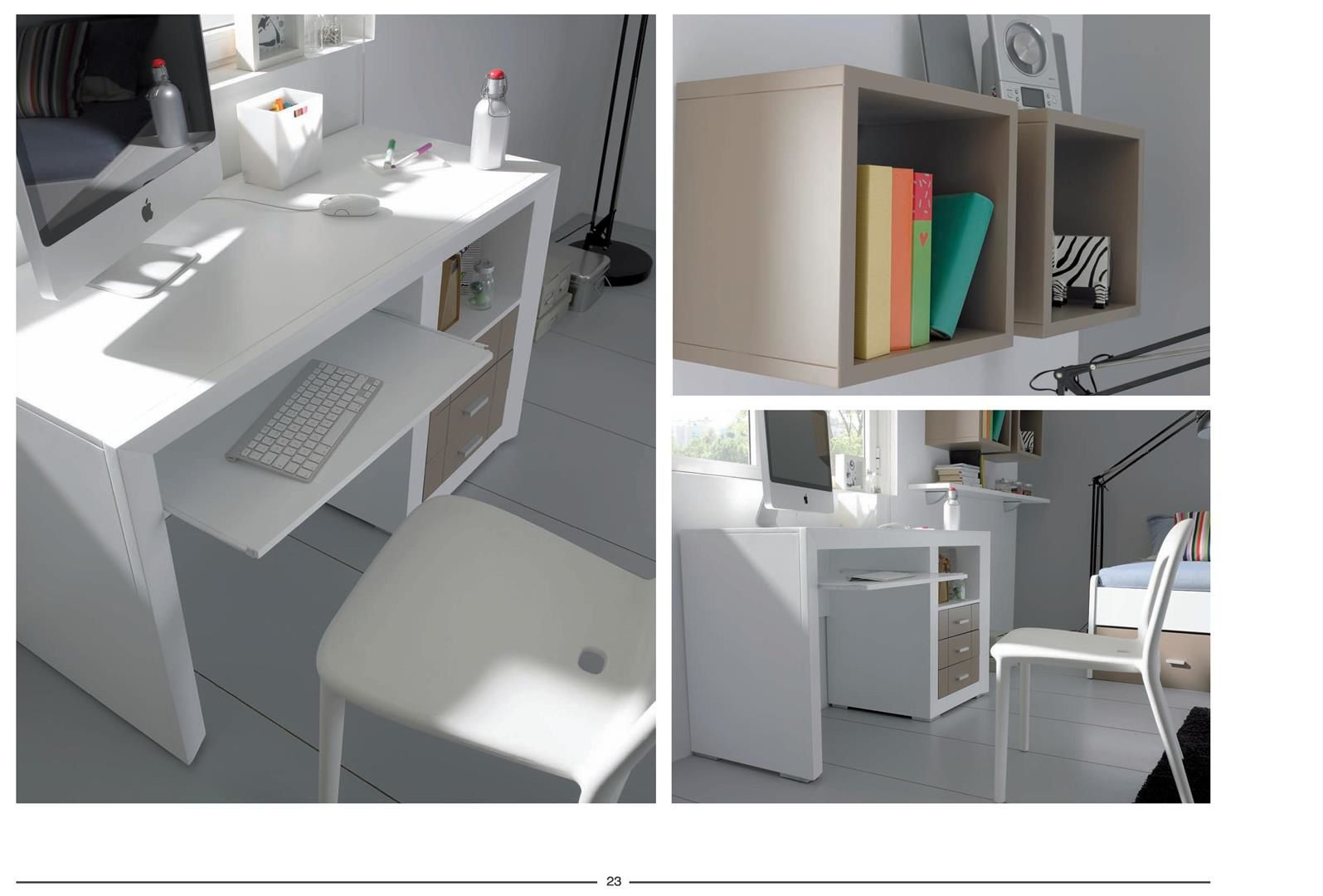 meubles laques modulables, vitrines, chevets, commodes ...