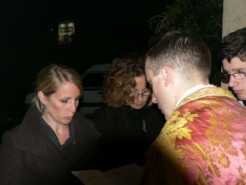 Veillée Pascale à la chapelle Saint François le 3 avril 2010 au cours de laquelle a été baptisée Dorothée.