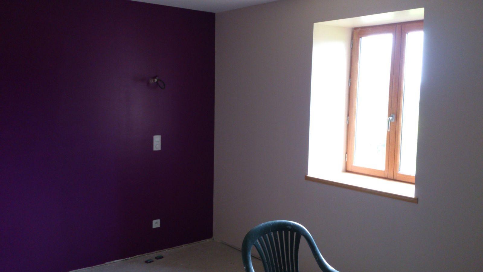 Chambre Adulte Violet Et Gris chambre violette et lin ! - renovation d'une fermette en