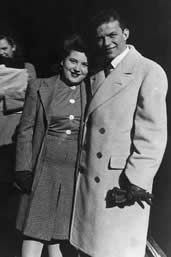 Sinatra with his mother Dolly in 1945