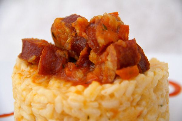 risotto rougail saucisses
