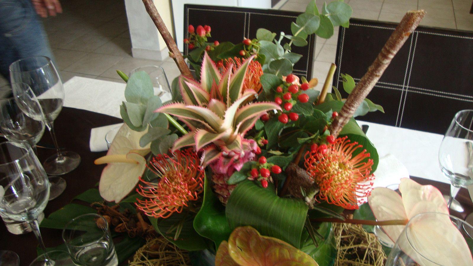 Comment Faire Un Centre De Table Avec Des Fleurs centre de table fleurs exotiques - le blog de