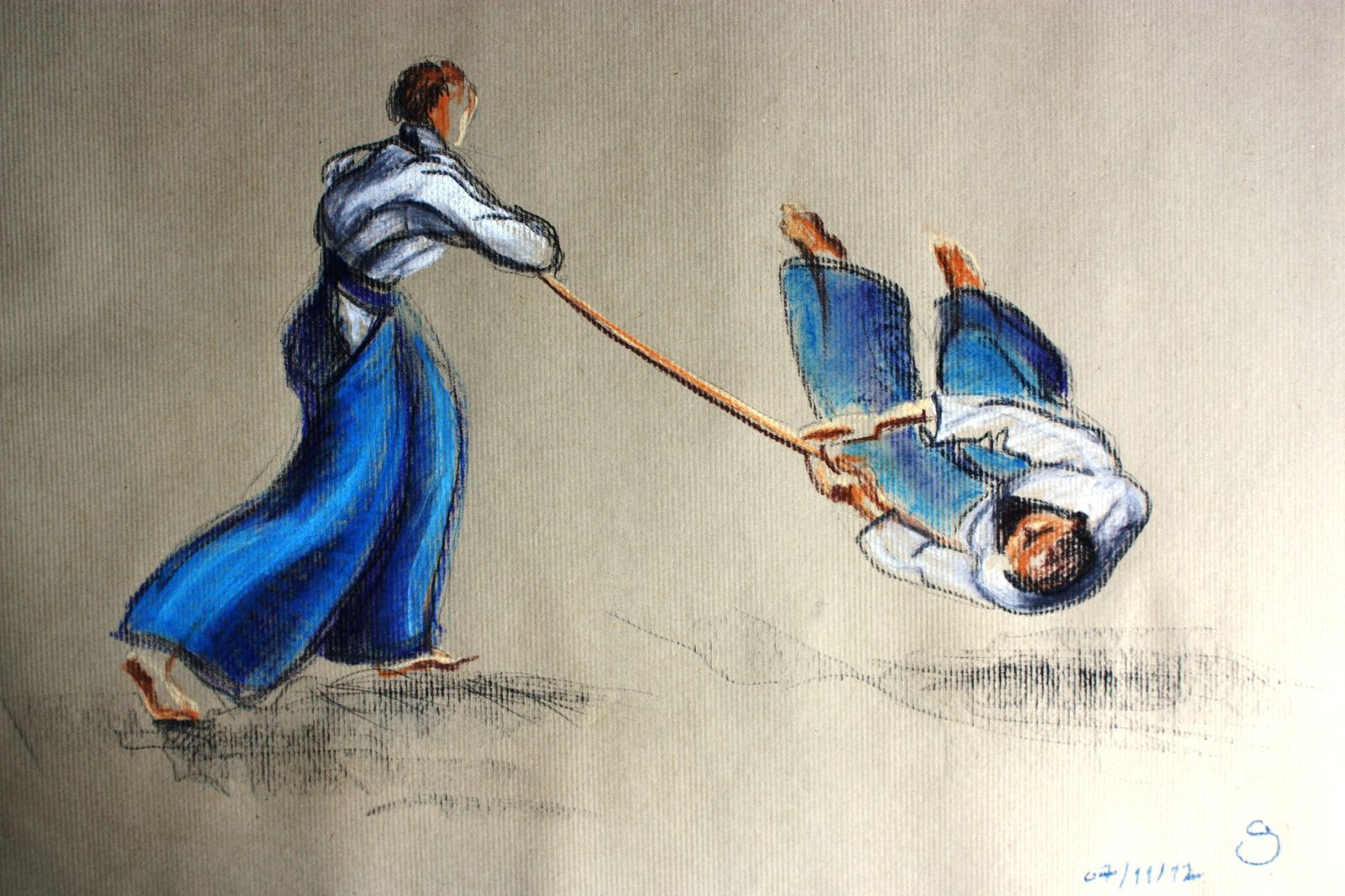 Aikido dessins couleurs