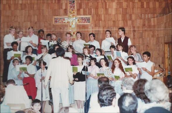 1985 la chorale répétition