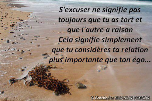 citations d'excuses