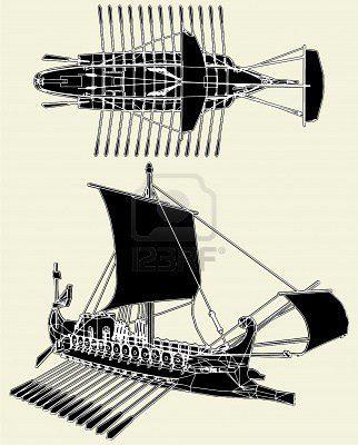8032776-le-navire-romain-antique