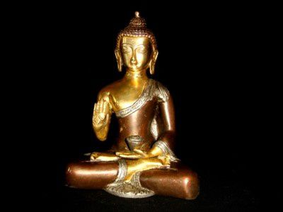 bouddha-statue-metal-or