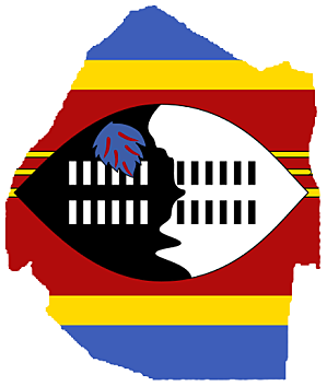 Flag-map of Swaziland