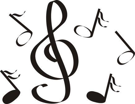 musical notes a treble