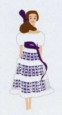 robe au ruban.....