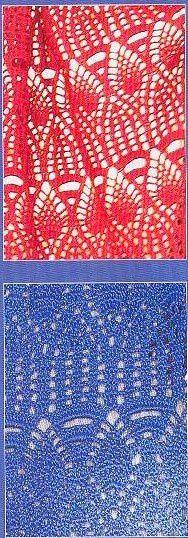 étole rouge et bleue....
