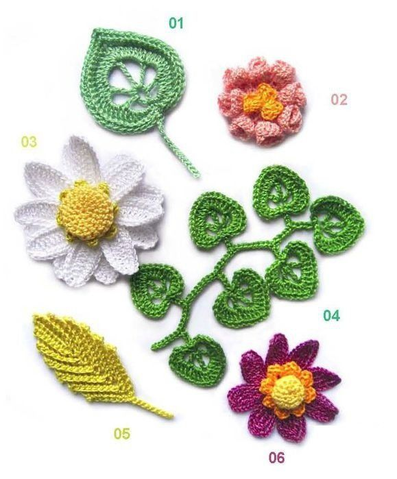 fleurs de 1 à 6