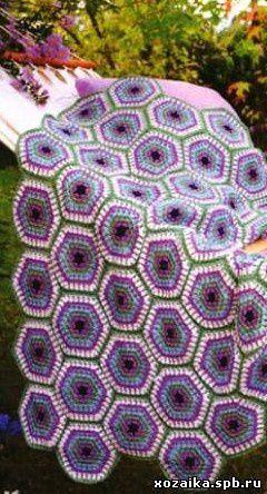 plaid aux hexagones