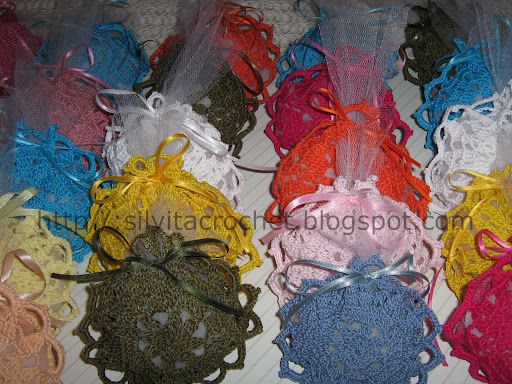 sachets multicolores