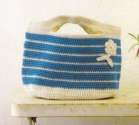 sac bleu et blanc